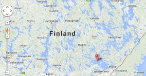 Google map Järvi-Suomi